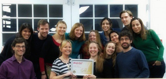 The Llama team with our gold certificate